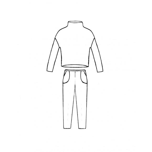 Готовая  PDF-выкройка трикотажного костюма K-11