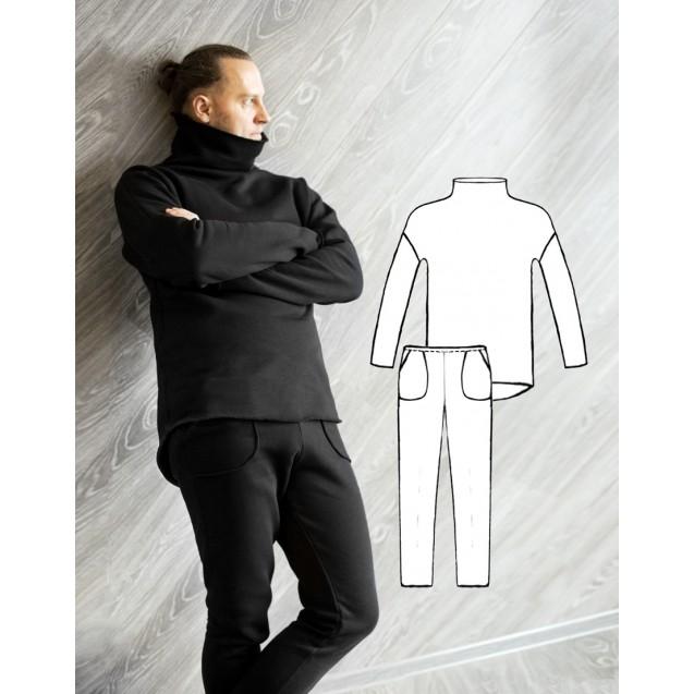 Готовая PDF-выкройка мужского трикотажного костюма К-23