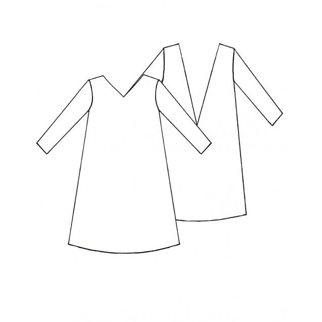 Готовая PDF-выкройка платья в пайетку П - 01